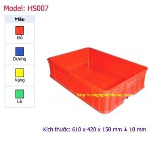 Thùng nhựa đặc HS007