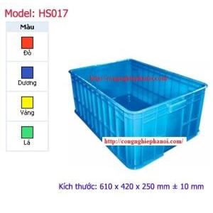 Thùng nhựa đặc HS017