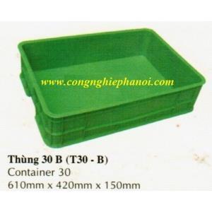 Thùng nhựa đặc T30