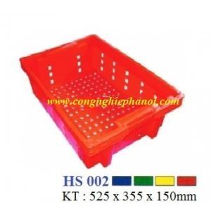 Thùng nhựa hở HS002