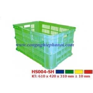 Thùng nhựa hở HS004