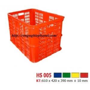 Thùng nhựa hở HS005