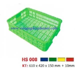 Thùng nhựa hở HS008