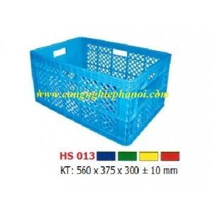 Thùng nhựa hở HS013