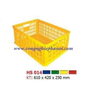 Thùng nhựa hở HS014