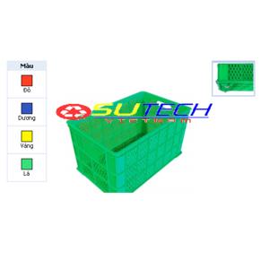 Thùng nhựa hở HS0199 - SH có 5 bánh xe