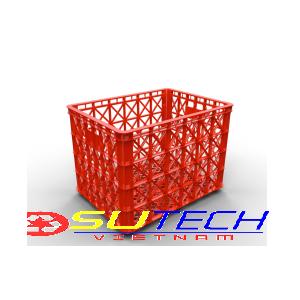 Thùng nhựa hở HS022 - SH có 8 bánh xe