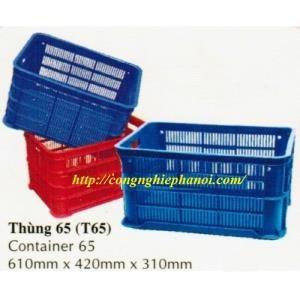 Thùng nhựa hở T65