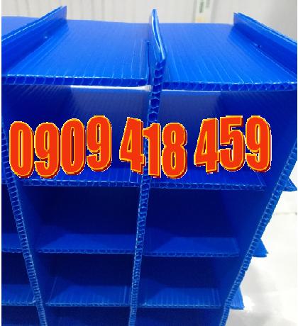 Thùng nhựa pp danpla vách ngăn, thùng nhựa carton có vách ngăn
