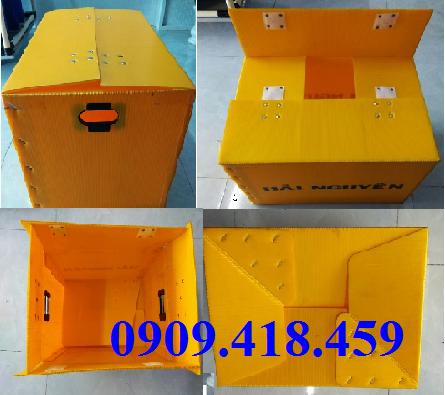 Thùng nhựa Carton đáy xếp
