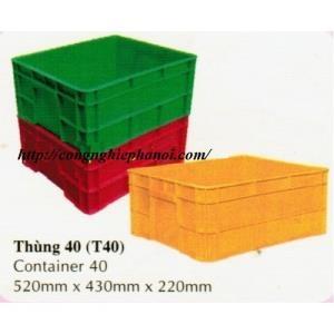 Thùng nhựa T40