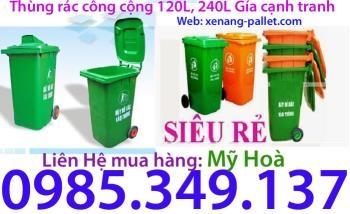 Thùng rác 120 lít - Thùng rác công cộng 120 lít