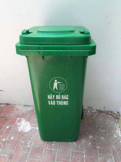 thùng rác nhựa 120l , thùng đựng rác , thùng rác nhựa