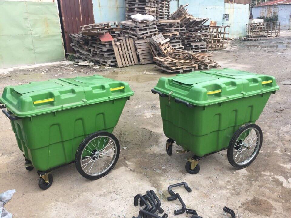 THÙNG RÁC CÔNG CỘNG 400L , thùng rác nhựa , thùng đựng rác , thùng chứa rác