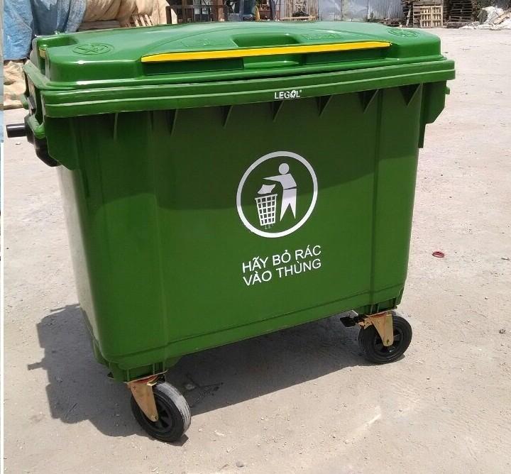 thùng nhựa dựng rác , thùng chứa rác , thùng rác 660l , xe rác giá rẻ ,