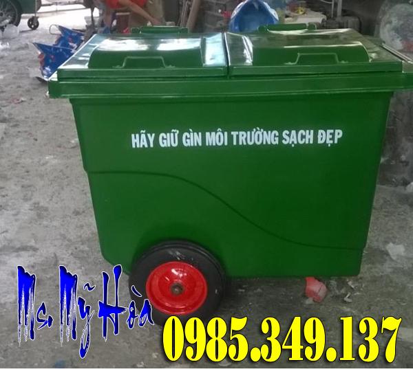 Xe đẩy rác 660 lít Composite bánh đặc tại quận Gò Vấp- TPHCM