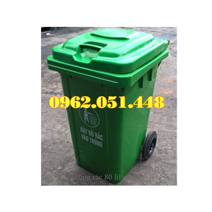 Thùng rác 80 lít nhựa HDPE