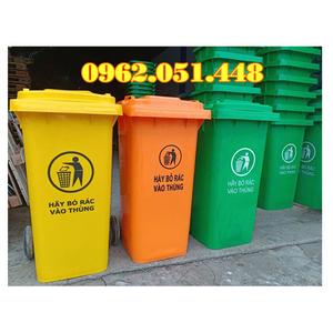 Thùng rác công cộng 120 lít giá rẻ có sẵn