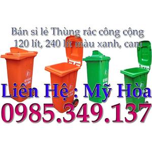 THÙNG RÁC CÔNG CỘNG 120 LÍT nhựa HDPE