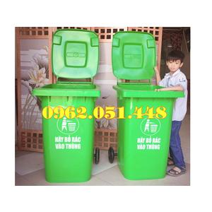 Thùng rác công cộng 240 lít nhựa HDPE bền đẹp