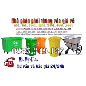 Thùng rác 120 lít nhập khẩu giá sốc
