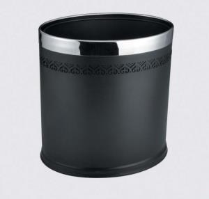 Thùng rác hình Oval sắt sơn đen 2 lớp Mã SP: GPX-45C-12