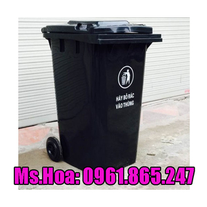 Thùng rác màu đen 120 lít 240 lít tại Hà Nội và Sài Gòn