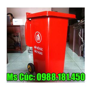 Thùng rác màu đỏ 120 lít