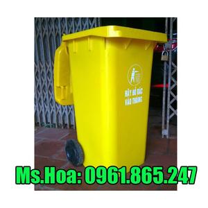 Thùng rác màu vàng 120 lít 240 lít 660 lít