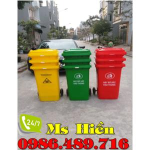Thùng rác nhựa công cộng 240 lít giá rẻ nhất