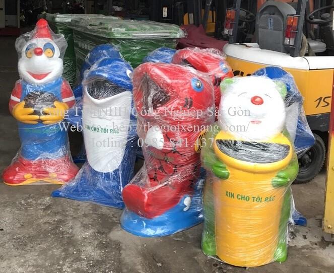 thùng rác hình thú , thùng rác nhựa composite , thùng rác hình chuột , thùng rác siêu thị , xe đẩy rác