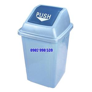 Thùng rác nhựa nắp đẩy 40L