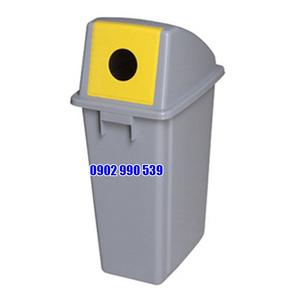 Thùng rác nhựa nắp tròn bỏ rác