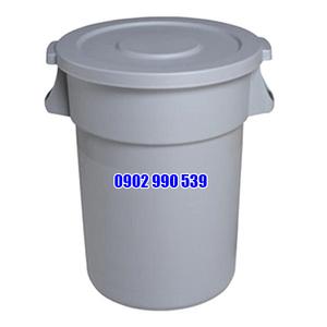 Thùng rác nhựa tròn có nắp đậy