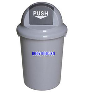 Thùng rác nhựa tròn HDPE không bánh xe