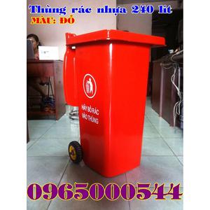 Thùng rác, thùng rác nhựa 240 lít sức chứa vượt trội