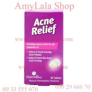 Thuốc uống trị mụn NatraBio Acne Relief - 0933555070 - 0902966670 - amylalashop.com - thanhlala.com: