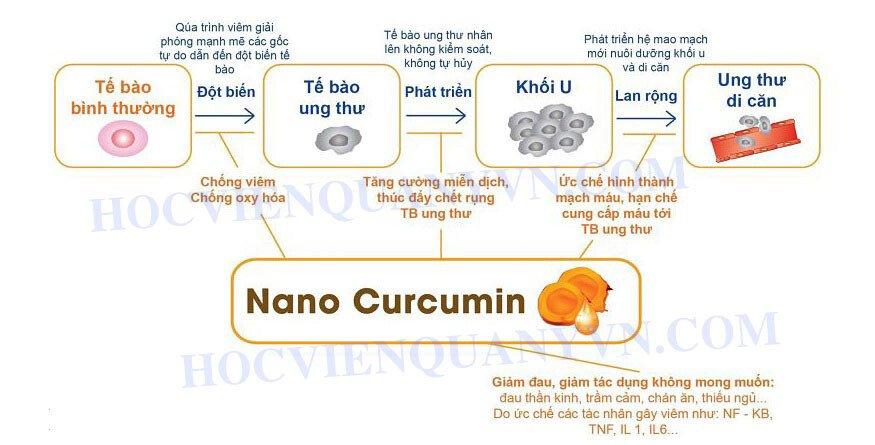 Thuốc chữa đau dạ dày Học Viện Quân Y - Tinh bột nghệ Nano curcumin