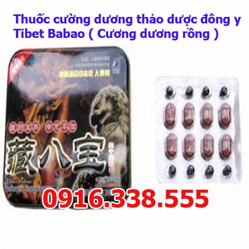 Thuốc cường dương thảo dược đông y Tibet Babao Cương dương rồng