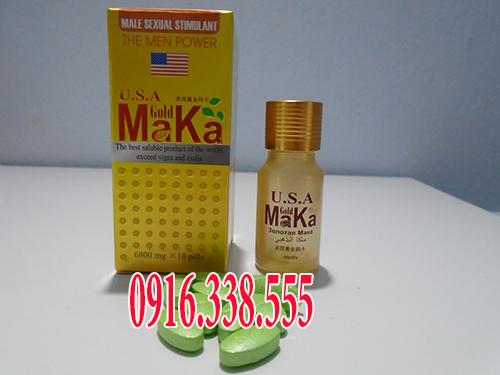 Thuốc Cường Dương U.S.A Gold Maka 6800 mg chai 10 viên