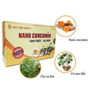 Thuốc điều trị ung thư Học Viện Quân Y Nano Curcumin Tam Thất Xạ Đen