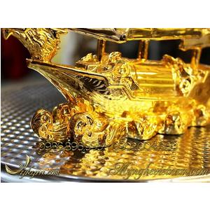 Thuyền buồm bằng đồng mạ vàng cao cấp
