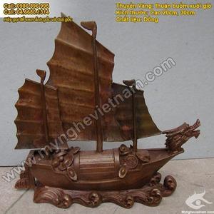 Thuyền buồm bằng đồng,Thuyền vàng chở tiền phong thủy