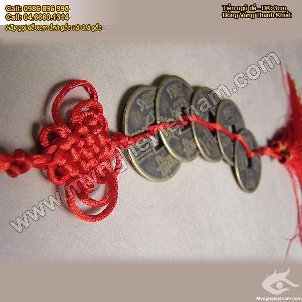 tiền xu Ngũ đế phong thủy cầu tài
