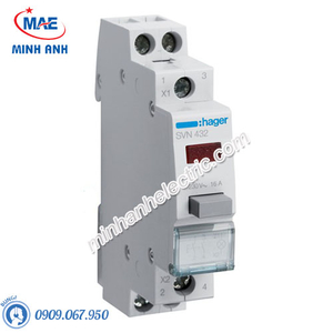 Timer 24h Hager - Model SVN432 dòng Push Button