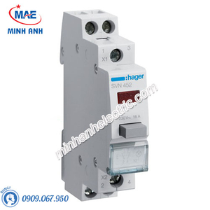 Timer 24h Hager - Model SVN452 dòng Push Button