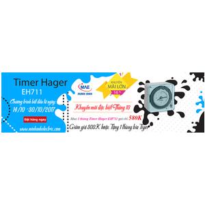 Timer Hager EH711 - Giảm Giá Đặc Biệt 300K, Tặng 1 Thùng Bia Tiger