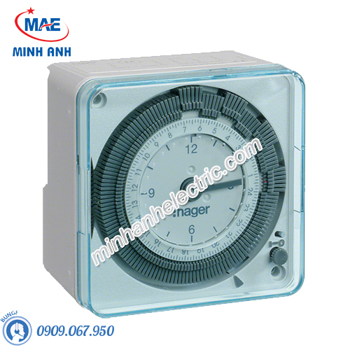 Timer 24h Hager - Model EH770 loại Analog 72x72mm