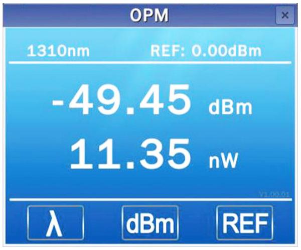 tính năng đo công suất quang của máy đo Deviser