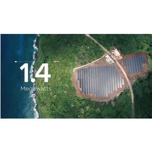 Toàn bộ điện sinh hoạt của cả hòn đảo này được cung cấp bằng năng lượng mặt trời của Tesla